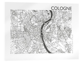 Metacrilato  Mapa de la ciudad de Colonia - 44spaces