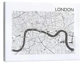 Lienzo  Mapa de la ciudad de Londres - 44spaces