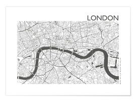 Póster  Mapa de la ciudad de Londres - 44spaces