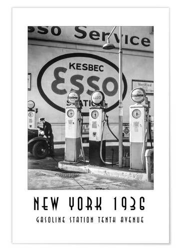 Póster Historic New York - Gasoline Station Tenth Avenue, Manhattan