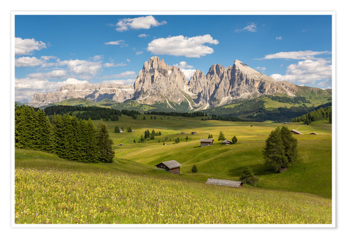 Póster Summer in the Dolomites