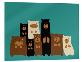 Metacrilato  Bear friends turquoise - Kidz Collection