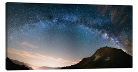Lienzo  Milky Way arch and starry sky on the Alps. Panoramic view - Fabio Lamanna