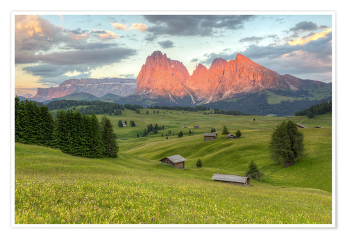 Póster Alpenglow in the Dolomites