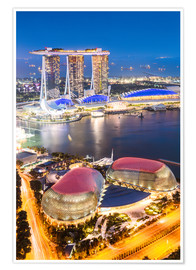 Póster  Marina Bay Sands at night, Singapore - Matteo Colombo