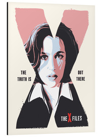 Cuadro de aluminio  Dana Scully X Files art print - 2ToastDesign