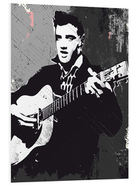 Cuadro de PVC  Elvis Presley black and white art print - 2ToastDesign