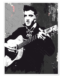 2ToastDesign - Elvis Presley black and white art print