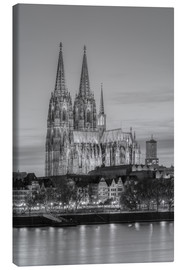 Lienzo  Cologne Cathedral black-and-white - Michael Valjak