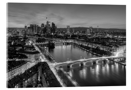 Cuadro de metacrilato  Frankfurt skyline black-and-white - Michael Valjak