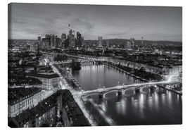 Lienzo  Frankfurt skyline black-and-white - Michael Valjak