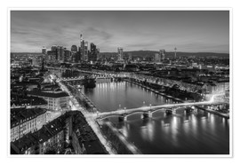 Póster  Frankfurt skyline black-and-white - Michael Valjak