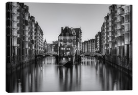 Lienzo  Hamburg Speicherstadt black-and-white - Michael Valjak