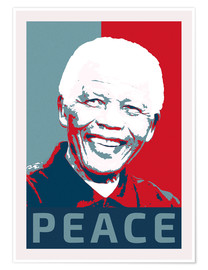 Póster  Nelson Mandela Peace and Hope - Alex Saberi
