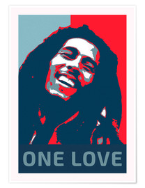 Póster  Bob Marley One Love - Alex Saberi