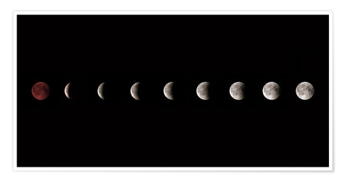 Póster Moon phases 2018