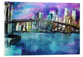 Cuadro de metacrilato  New York Brooklyn Bridge - Johann Pickl