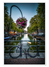 Póster  The bike at the canal, Amsterdam - Sören Bartosch
