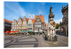 Cuadro de metacrilato  Historic Market Square in Bremen with Roland Statue - Jan Christopher Becke