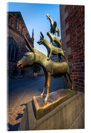 Cuadro de metacrilato  The statue of the Bremen Town Musicians - Jan Christopher Becke