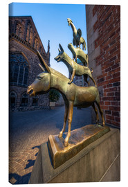 Lienzo  The statue of the Bremen Town Musicians - Jan Christopher Becke