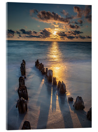 Metacrilato  Groyne on Sylt with sunset - Heiko Mundel