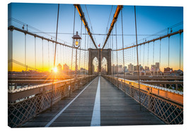 Lienzo  Brooklyn Bridge at sunrise in front of the Brooklyn skyline - Jan Christopher Becke