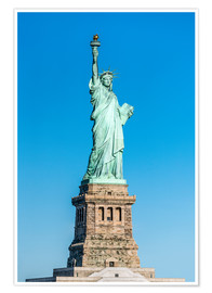 Póster  Statue of Liberty on Liberty Island, New York City, USA - Jan Christopher Becke