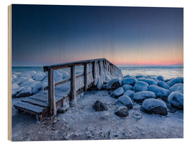 Madera  Jetty on the icy Baltic Sea near Travemünde - Heiko Mundel
