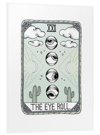 Cuadro de PVC  The Eye Roll, carta del tarot - Barlena