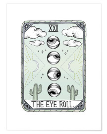 Póster  The Eye Roll, carta del tarot - Barlena