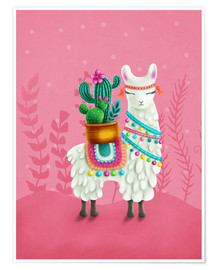Póster  Illustration of a cute llama - Elena Schweitzer