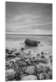 Cuadro de PVC  Granite in the Baltic Sea (long exposure) - Heiko Mundel