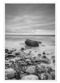 Póster Granite in the Baltic Sea (long exposure)
