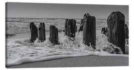 Lienzo  Groyne with waves - Heiko Mundel