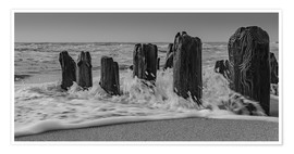 Póster Groyne with waves
