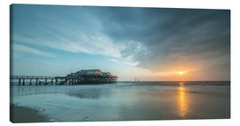 Lienzo  Sunset at the beach bar 54Grad in St.Peter-Ording - Heiko Mundel