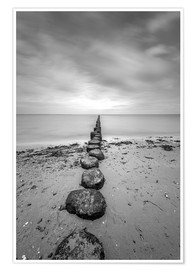 Póster  Groyne on Rügen (long exposure) - Heiko Mundel