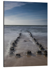 Cuadro de aluminio  Groyne on Sylt (long exposure) - Heiko Mundel