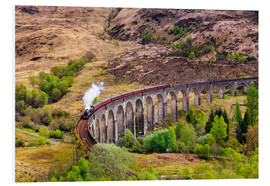 Cuadro de PVC  Glenfinnan viaduct with incoming train - Reemt Peters-Hein