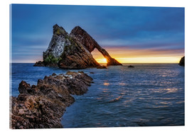 Cuadro de metacrilato  Sunrise at Bow Fiddle Rock - Reemt Peters-Hein