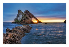 Póster Sunrise at Bow Fiddle Rock