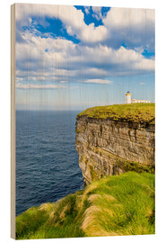 Cuadro de madera  Duncansby Head Lighthouse at John o Groats - Reemt Peters-Hein