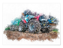 Póster  tractor