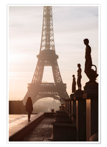 Póster Eiffel tower from Trocadero, Paris