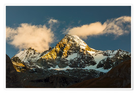 Póster Alpenglow at Großglockner