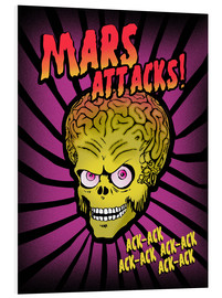 Cuadro de PVC  Mars Attacks! movie art inspired - 2ToastDesign