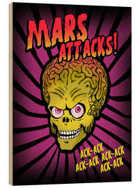 Cuadro de madera  Mars Attacks! movie art inspired - 2ToastDesign
