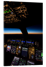 Metacrilato  Airbus A380 Cockpit Twilight - Ulrich Beinert