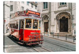 Lienzo  Red Tram Travelling In Lisbon City - Radu Bercan